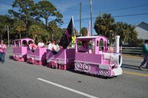 Paint Georgia Pink Train