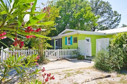 behind a tybee island picket fence