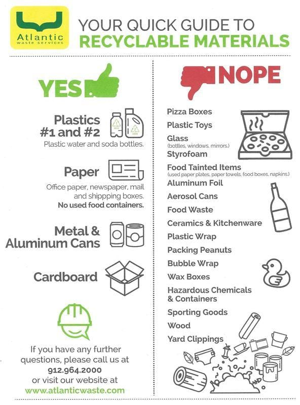 recycle guide for tybee island