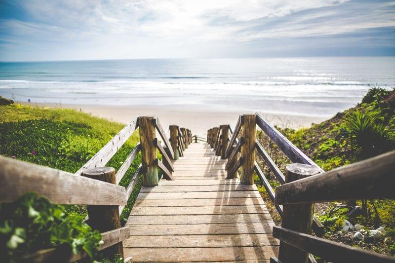 beach walkover on tybee island ga