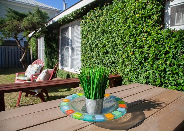 outdoor greenery at beach haven cottage