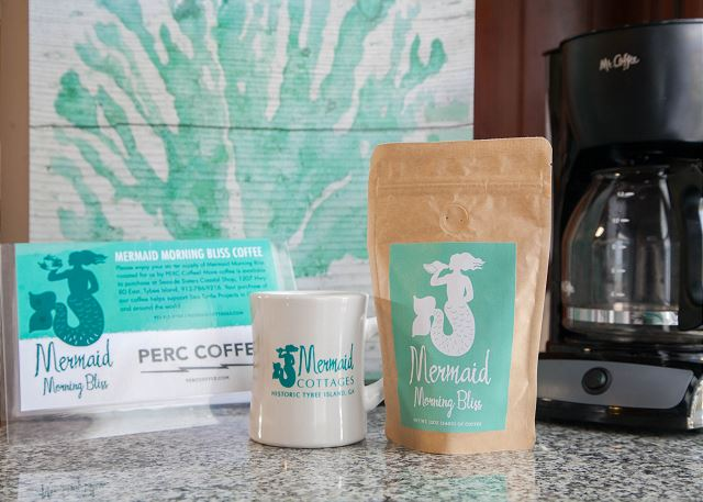 mermaid morning bliss coffee is a brand standard in all of our Tybee Island cottages.