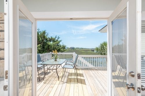 a room with a view of the marsh on tybee island