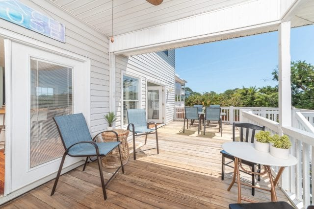 this deck is a wonderful place to spend your tybee time