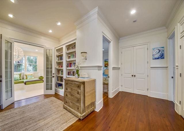 heart of pine floors at A Wave Call Cottage for your Tybee beach vacation