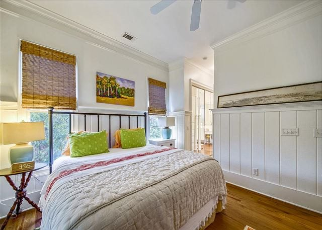 master bedroom at a wave call cottage for your Tybee beach vacation