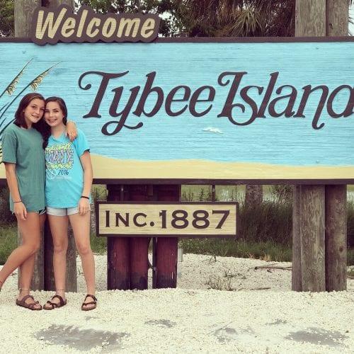 tybee island welcome sign