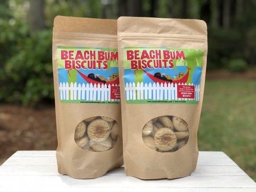 beach bum biscuits dog treats