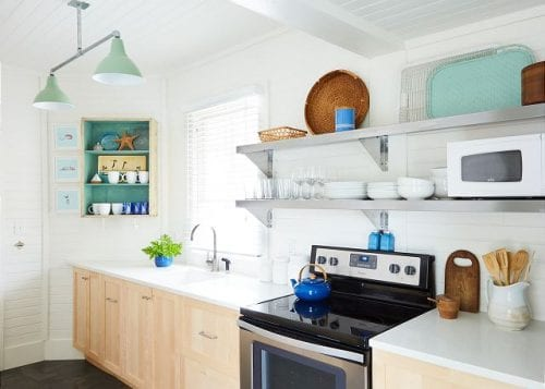 the kitchen at sandpiper cottage