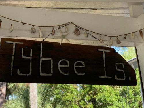 tybee island sign at tybee tides cottage