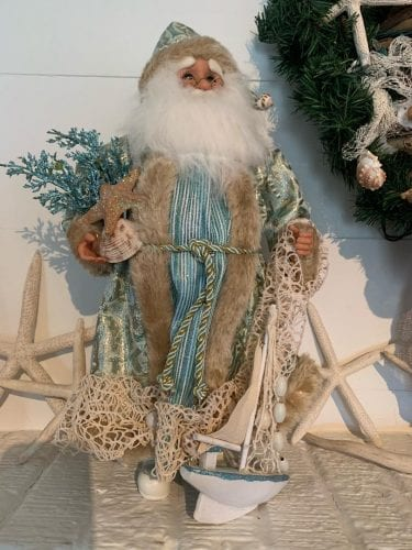 french country santa at tybee tides cottage