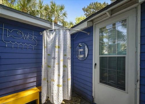 Fish Camp Cottage Outdoor Shower