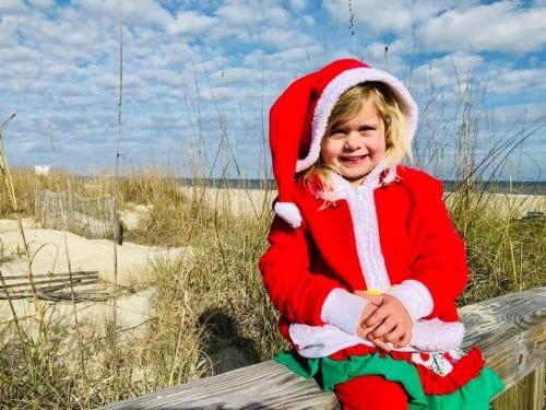 Mermaid Lacy celebrates a Tybee Island Christmas