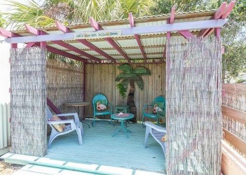 The Tiki Hut at Cantaloupe Cottage