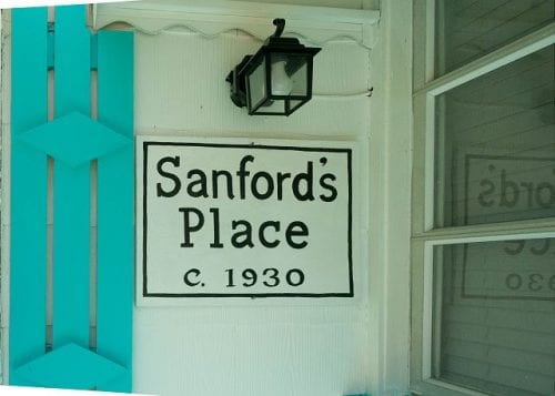 the cottage sign at sanford's place