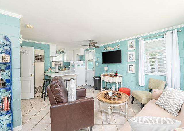 just beachy cottage den