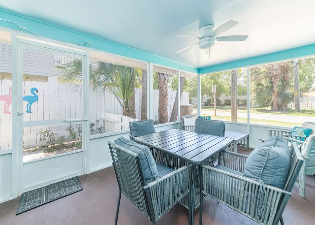 just beachy cottage screened porch