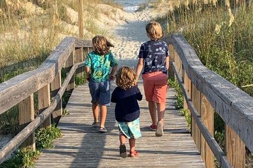 Georgia Staycation with boys headed to the Tybee Island beach
