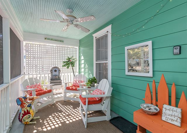 rain porches at noras cottage