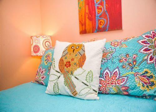 pillow decor at back river bungalow
