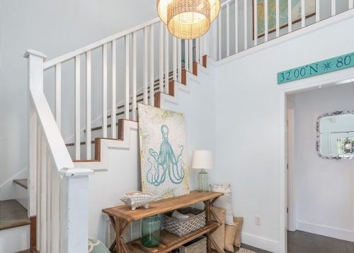 the stairs at live oaks cottage